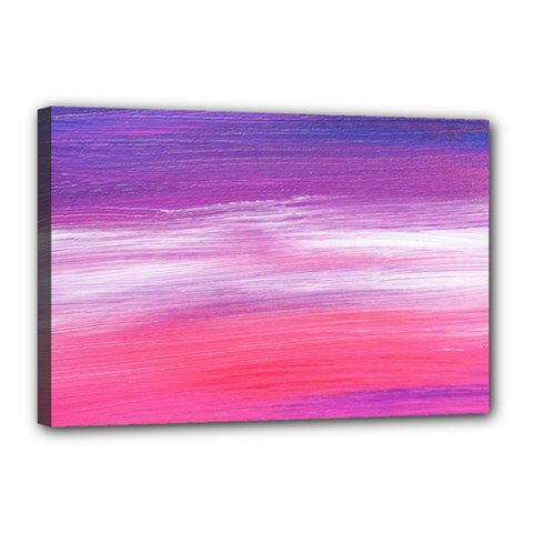 Abstract In Pink & Purple Canvas 18  X 12  (framed) by StuffOrSomething
