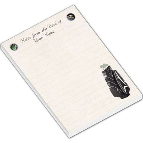 Golf Large Memo Pad Lined Paper By Kim Blair   Large Memo Pads   Nm4abdw3b39w   Www Artscow Com