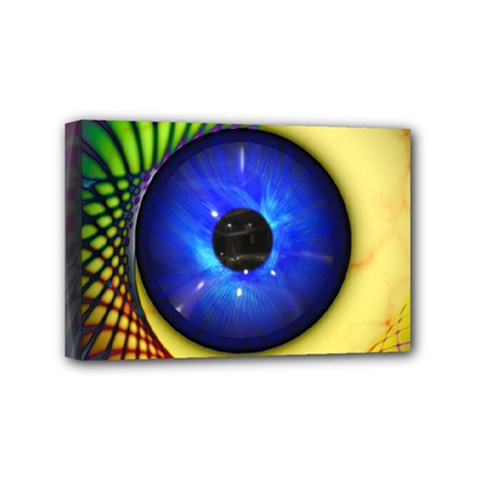 Eerie Psychedelic Eye Mini Canvas 6  X 4  (framed) by StuffOrSomething