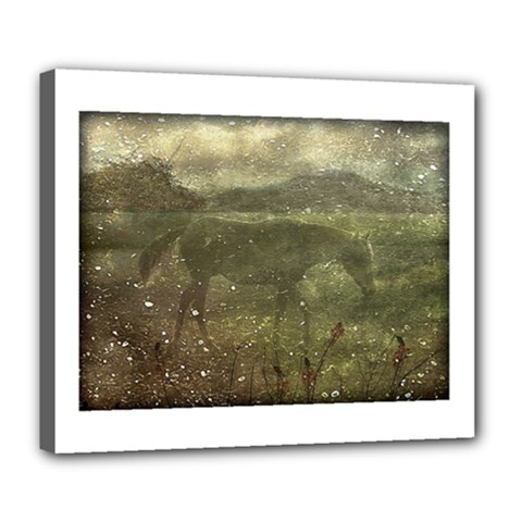 Flora And Fauna Dreamy Collage Deluxe Canvas 24  X 20  (framed) by dflcprints