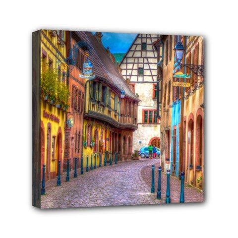 Alsace France Mini Canvas 6  X 6  (framed) by StuffOrSomething