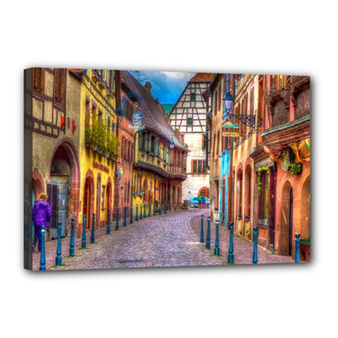 Alsace France Canvas 18  X 12  (framed) by StuffOrSomething