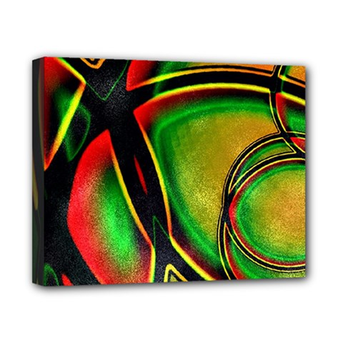 Multicolored Modern Abstract Design Canvas 10  X 8  (framed) by dflcprints