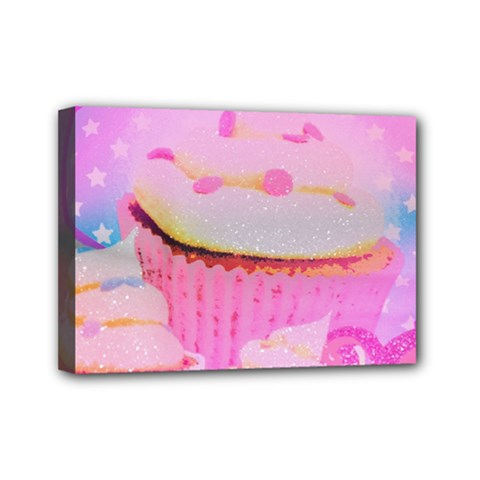 Cupcakes Covered In Sparkly Sugar Mini Canvas 7  X 5  (framed) by StuffOrSomething