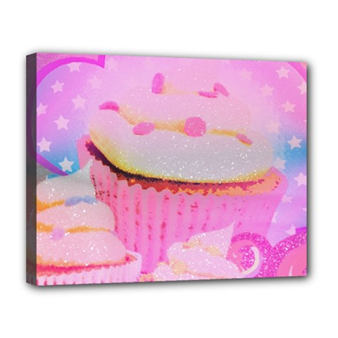 Cupcakes Covered In Sparkly Sugar Canvas 14  X 11  (framed) by StuffOrSomething