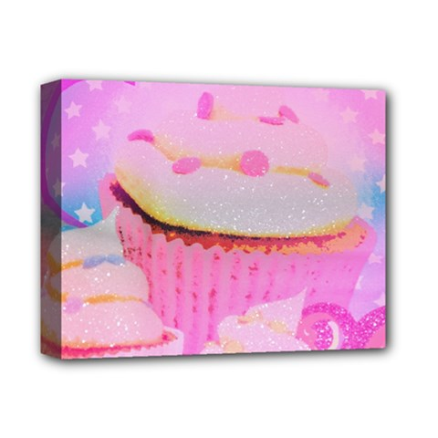 Cupcakes Covered In Sparkly Sugar Deluxe Canvas 14  X 11  (framed) by StuffOrSomething