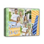 fathers day, dad, stong, number 1, family, happy, love, thank you - Deluxe Canvas 14  x 11  (Stretched)