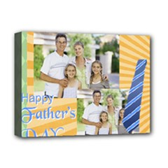 fathers day, dad, stong, number 1, family, happy, love, thank you - Deluxe Canvas 16  x 12  (Stretched)