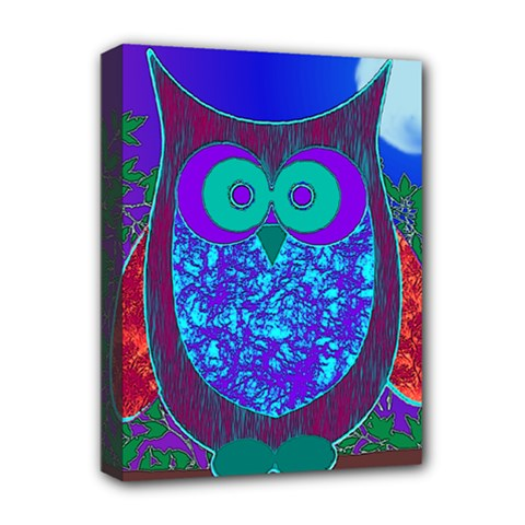Moon Owl Deluxe Canvas 16  x 12  (Framed)  by SaraThePixelPixie