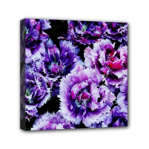 Purple Wildflowers Of Hope Mini Canvas 6  X 6  (framed) by FunWithFibro