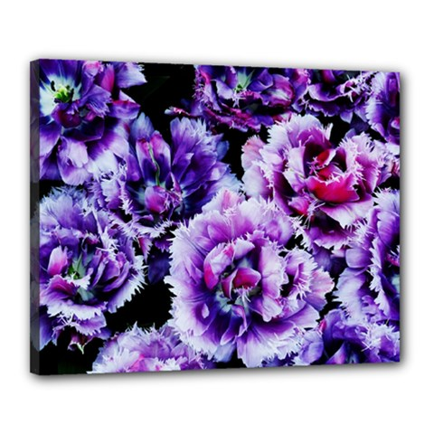 Purple Wildflowers Of Hope Canvas 20  X 16  (framed) by FunWithFibro