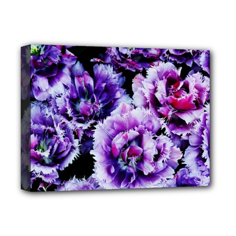 Purple Wildflowers Of Hope Deluxe Canvas 16  X 12  (framed)  by FunWithFibro