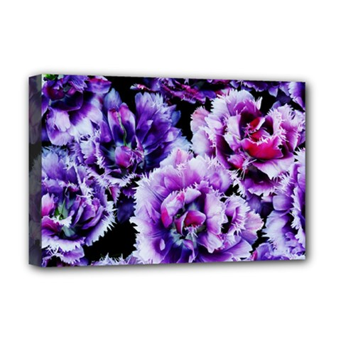 Purple Wildflowers Of Hope Deluxe Canvas 18  X 12  (framed) by FunWithFibro