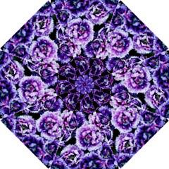 Purple Wildflowers Of Hope Hook Handle Umbrella (small) by FunWithFibro