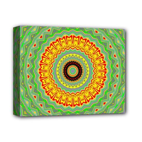 Mandala Deluxe Canvas 14  X 11  (framed) by Siebenhuehner