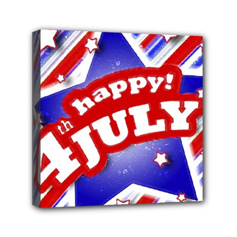 4th Of July Celebration Design Mini Canvas 6  X 6  (framed) by dflcprints