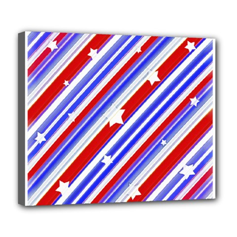 American Motif Deluxe Canvas 24  X 20  (framed) by dflcprints