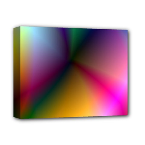 Prism Rainbow Deluxe Canvas 14  X 11  (framed) by StuffOrSomething