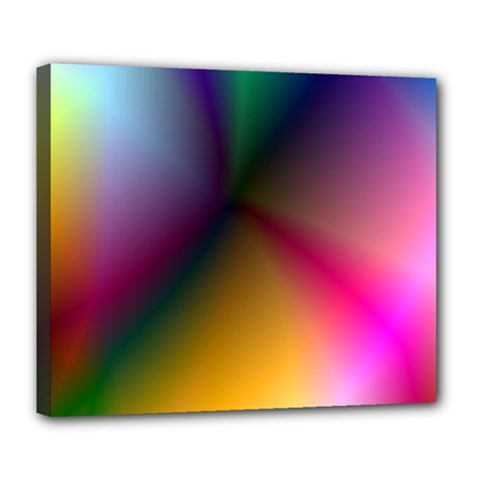 Prism Rainbow Deluxe Canvas 24  X 20  (framed) by StuffOrSomething
