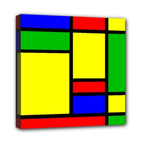 Mondrian Mini Canvas 8  X 8  (framed)