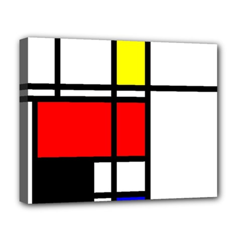 Mondrian Deluxe Canvas 20  X 16  (framed) by Siebenhuehner