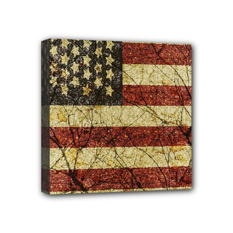 Vinatge American Roots Mini Canvas 4  X 4  (framed) by dflcprints