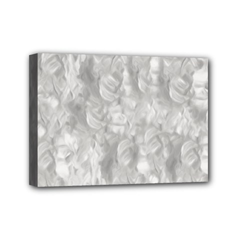 Abstract In Silver Mini Canvas 7  x 5  (Framed)