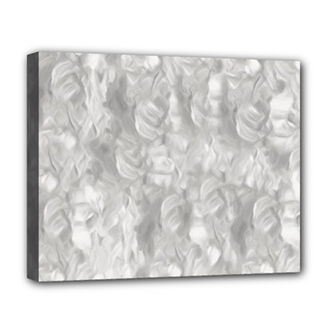 Abstract In Silver Deluxe Canvas 20  X 16  (framed) by StuffOrSomething