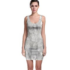Elegant Silvery Abstract Bodycon Dress by StuffOrSomething