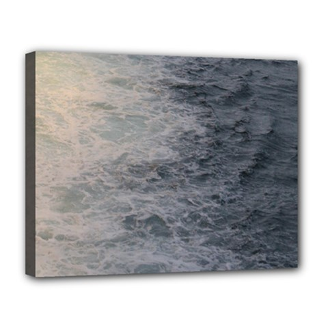 Wake Patterns In The Sea Canvas 14  X 11  (framed) by stineshop