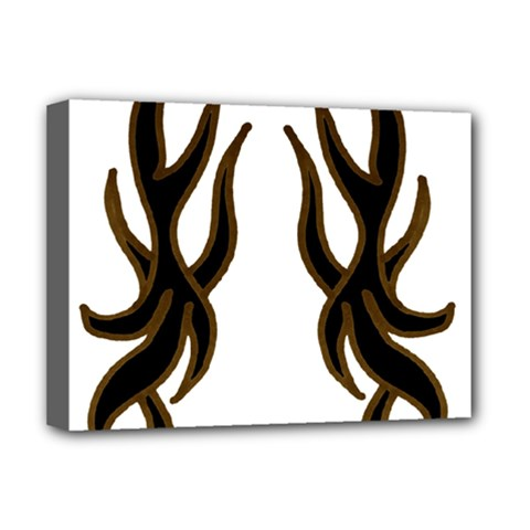 Dancing Fire Deluxe Canvas 16  X 12  (framed)