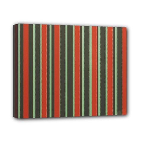 Festive Stripe Canvas 10  X 8  (framed) by Colorfulart23