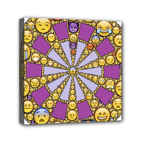 Circle Of Emotions Mini Canvas 6  X 6  (framed) by FunWithFibro