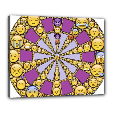 Circle Of Emotions Canvas 20  X 16  (framed) by FunWithFibro