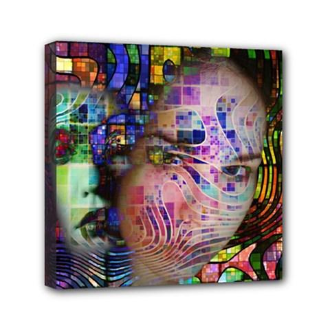 Artistic Confusion Of Brain Fog Mini Canvas 6  x 6  (Framed)