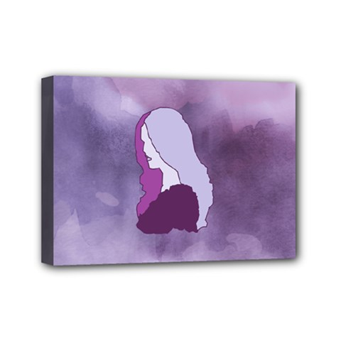 Profile Of Pain Mini Canvas 7  X 5  (framed) by FunWithFibro