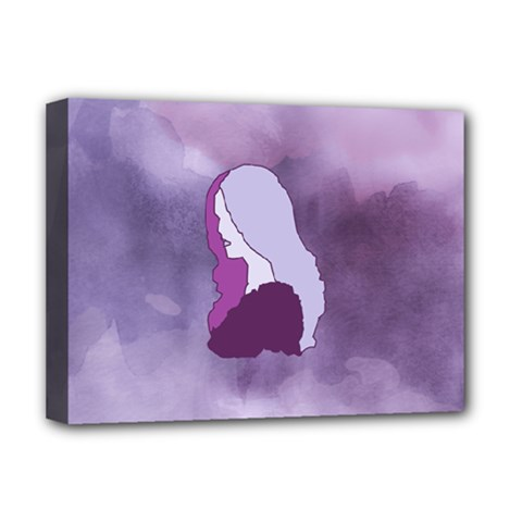 Profile Of Pain Deluxe Canvas 16  X 12  (framed)  by FunWithFibro
