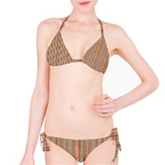 Grunge Colorful Stripes Bikini by DigitalArtCreations