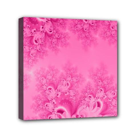 Soft Pink Frost Of Morning Fractal Mini Canvas 6  X 6  (framed) by Artist4God