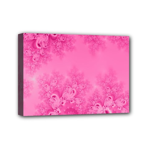 Soft Pink Frost Of Morning Fractal Mini Canvas 7  X 5  (framed) by Artist4God