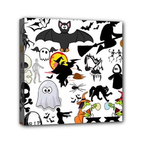 Halloween Mashup Mini Canvas 6  X 6  (framed) by StuffOrSomething