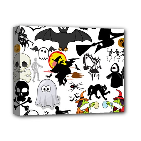 Halloween Mashup Deluxe Canvas 14  X 11  (framed) by StuffOrSomething