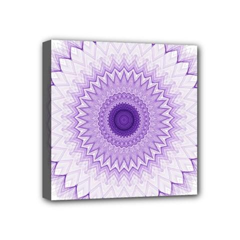 Mandala Mini Canvas 4  X 4  (framed) by Siebenhuehner
