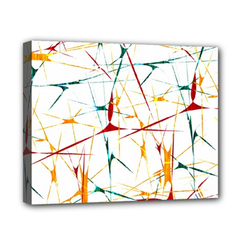 Colorful Splatter Abstract Shapes Canvas 10  X 8  (framed) by dflcprints