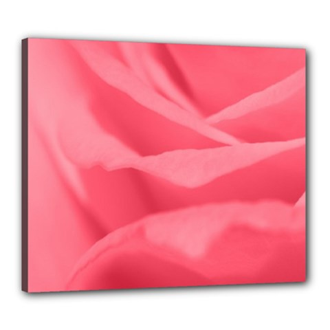 Pink Silk Effect  Canvas 24  X 20  (framed) by Colorfulart23