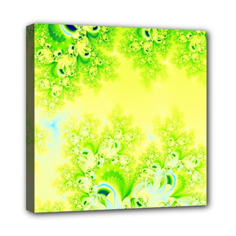 Sunny Spring Frost Fractal Mini Canvas 8  X 8  (framed) by Artist4God