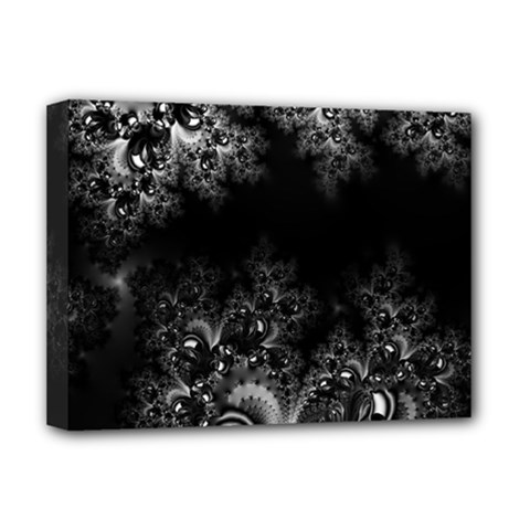 Midnight Frost Fractal Deluxe Canvas 16  X 12  (framed)  by Artist4God