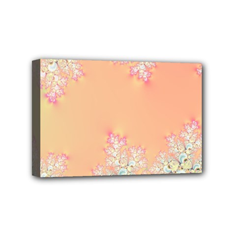 Peach Spring Frost On Flowers Fractal Mini Canvas 6  X 4  (framed) by Artist4God