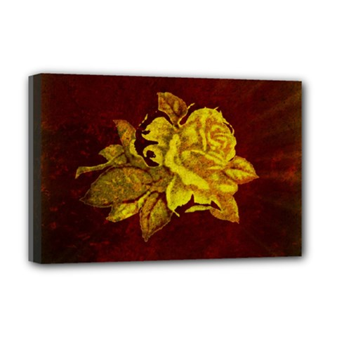 Rose Deluxe Canvas 18  x 12  (Framed) by ankasdesigns