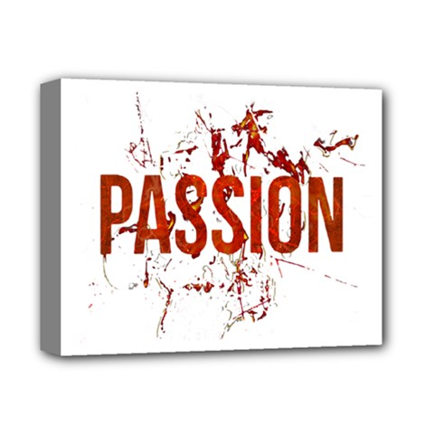 Passion And Lust Grunge Design Deluxe Canvas 14  X 11  (framed) by dflcprints